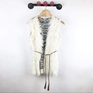 Easel bohemian faux fur vest